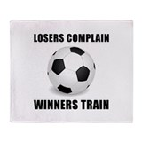 Soccer Winners Train Throw Blanket