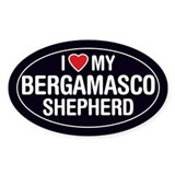 I Love My Bergamasco Shepherd Oval Sticker/Decal