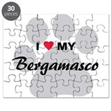 I Love My Bergamasco Puzzle