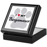 I Love My Bergamasco Keepsake Box
