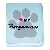 I Love My Bergamasco baby blanket