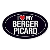 I Love My Berger Picard Oval Sticker/Decal