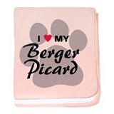 I Love My Berger Picard baby blanket