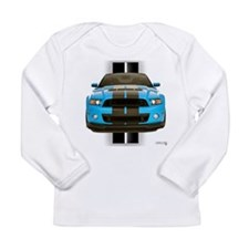 New Mustang Blue Long Sleeve Infant T-Shirt