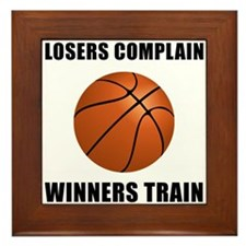 Basketball Winners Train Framed Tile