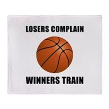 Basketball Winners Train Throw Blanket