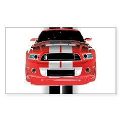 New Mustang GTR Sticker (Rectangle 50 pk)