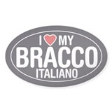 I Love My Bracco Italiano Oval Sticker/Decal