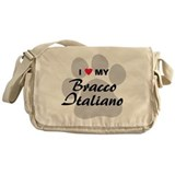 I Love My Bracco Italiano Messenger Bag