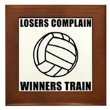 Volleyball Winners Train Framed Tile