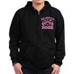 Big Sisters Rock Zip Hoodie (dark)