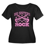 Big Sisters Rock Women's Plus Size Scoop Neck Dark