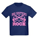 Big Sisters Rock Kids Dark T-Shirt