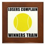 Tennis Winners Train Framed Tile