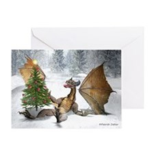 Dragon Christmas Tree Greeting Card