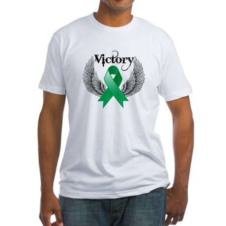 Victory Liver Cancer Fitted T-Shirt