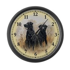 Labrador Retriever (black) Large Wall Clock