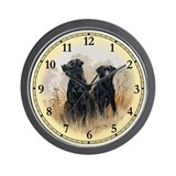 Labrador Retriever (black) Wall Clock