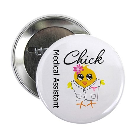 "Medical Assistant Chick 2.25"" Button"