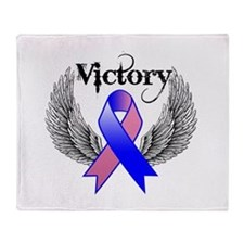 Victory Male Breast Cancer Throw Blanket