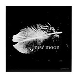 New Moon Feather by Twibaby Tile Coaster