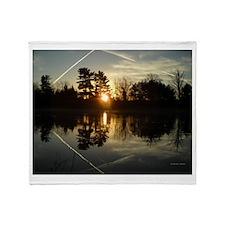X Spot Sunrise Reflection Throw Blanket