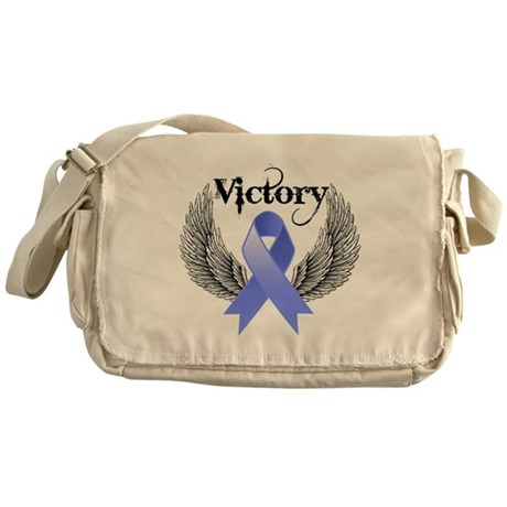 Victory Stomach Cancer Messenger Bag