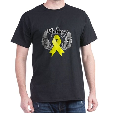 Victory Testicular Cancer Dark T-Shirt