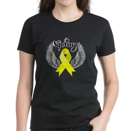 Victory Testicular Cancer Women's Dark T-Shirt