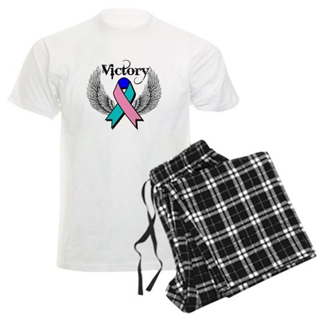 Victory Thyroid Cancer Men's Light Pajamas