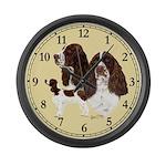 English Springer Spaniel Large Wall Clock