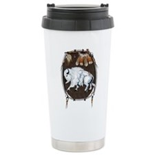 White Buffalo Shield Ceramic Travel Mug