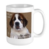 St Bernard Puppy Cookie Ceramic Mugs