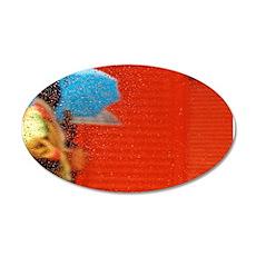 Umbrella Series: Red 22x14 Oval Wall Peel