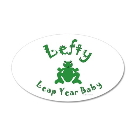 Left Handed Leap Year 38.5 x 24.5 Oval Wall Peel