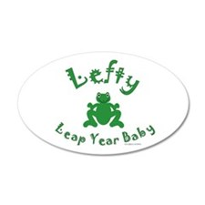 Left Handed Leap Year 22x14 Oval Wall Peel