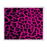 Hot Pink Leopard Print Throw Blanket