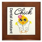 Dental Assistant Chick Framed Tile