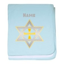 Star of David and Cross baby blanket