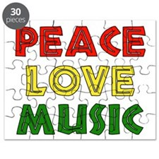 Peace Love Music Puzzle