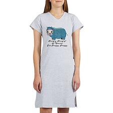 Preggy, Preggy Hippo Women's Nightshirt