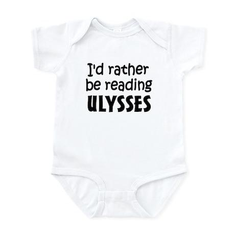 Reading Ulysses Infant Bodysuit