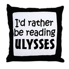 Reading Ulysses Throw Pillow