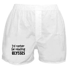 Reading Ulysses Boxer Shorts