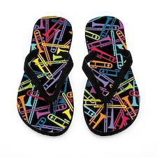 Colorful Trombones Flip Flops