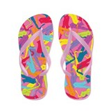 Colorful Saxophones Flip Flops