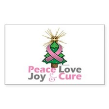 Breast Cancer Xmas Tree Ribbon Decal