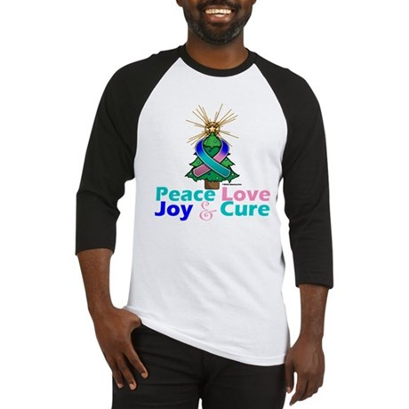 Thyroid Cancer Xmas Tree Ribbon Baseball Jersey