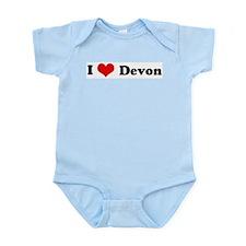 I Love Devon Infant Creeper