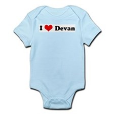 I Love Devan Infant Creeper